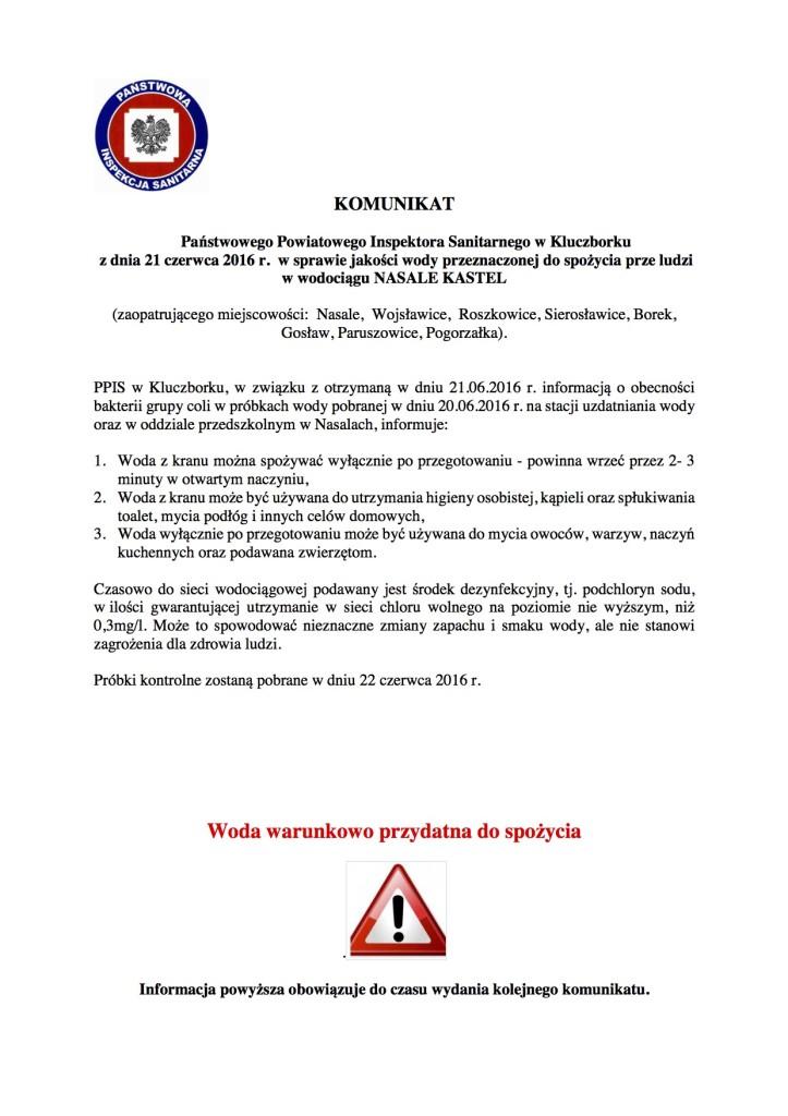 Komunikat Nasale Kastel 21.06.2016